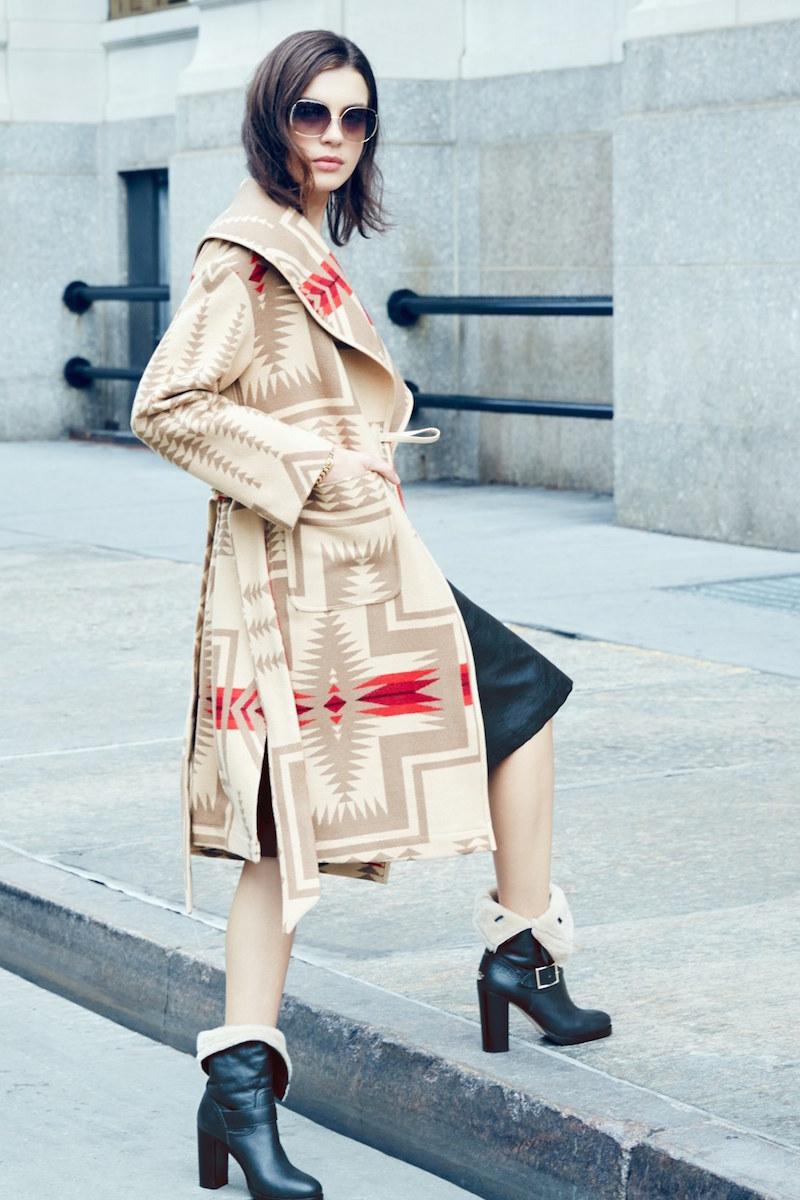 Pendleton Shawl Collar Wool Blanket Coat