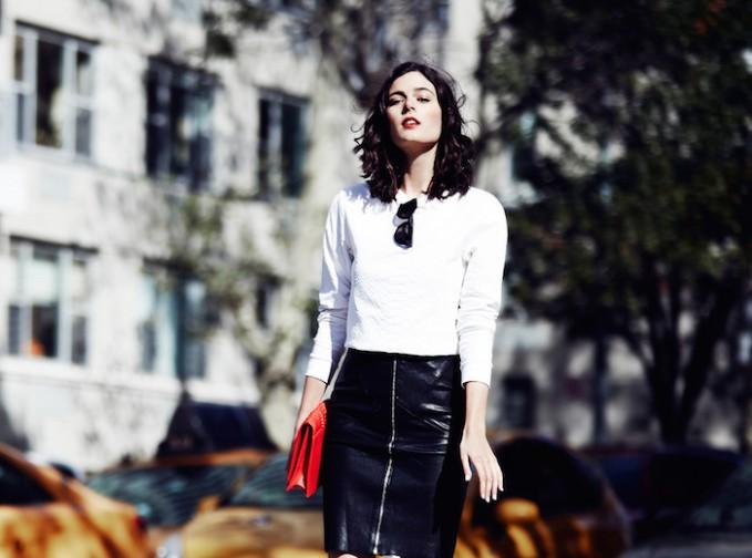 Sandro Joker Leather Skirt