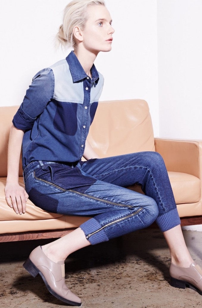 Stella McCartney Patchwork Chambray Shirt & Jeans