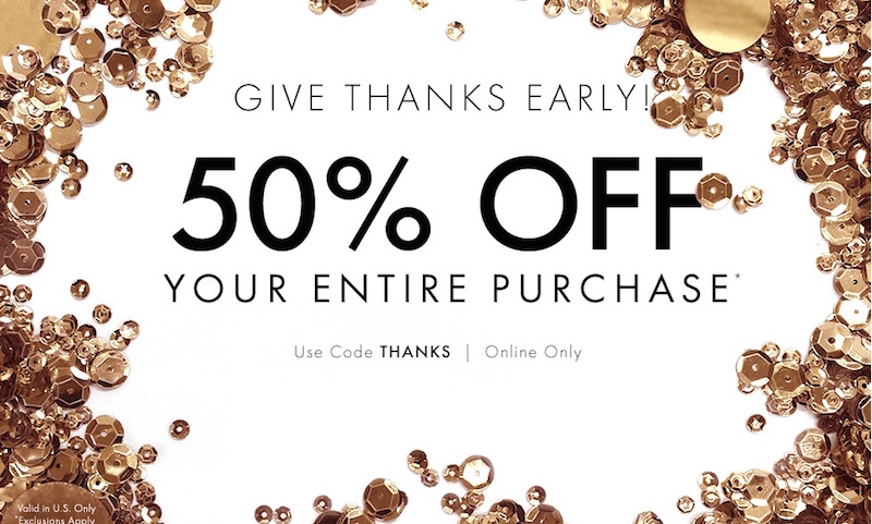 Thanksgiving and Black Friday Deals at Ann Taylor