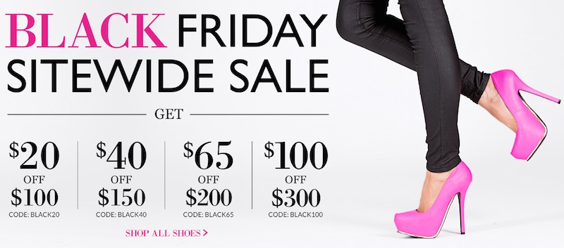 Thanksgiving and Black Friday Deals at HEELS