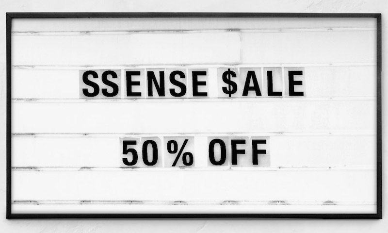 Thanksgiving and Black Friday Deals at SSENSE