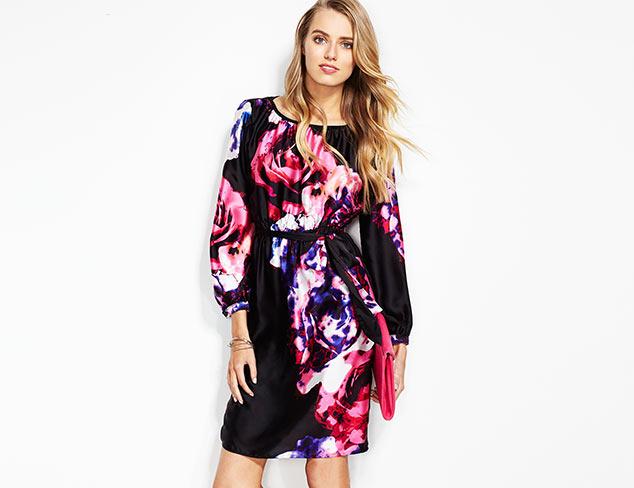 Melissa Masse Floral Print Dress