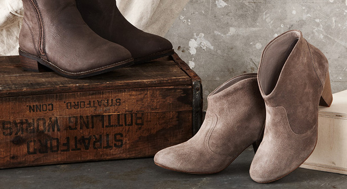 Wear-Now Suede Boots at Gilt