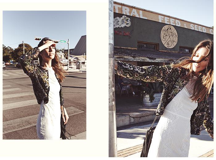 alice + olivia Kidman Embellished Box Jacket