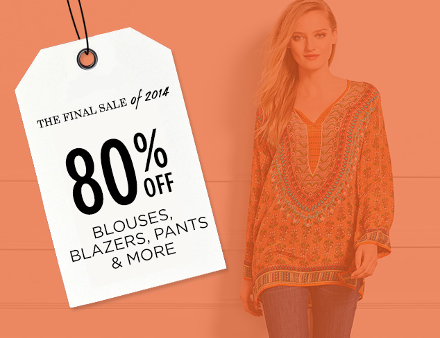 80% Off: Blouses, Blazers, Pants & More at MYHABIT