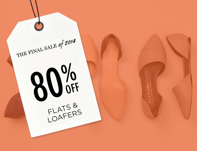 80% Off: Flats & Loafers at MYHABIT