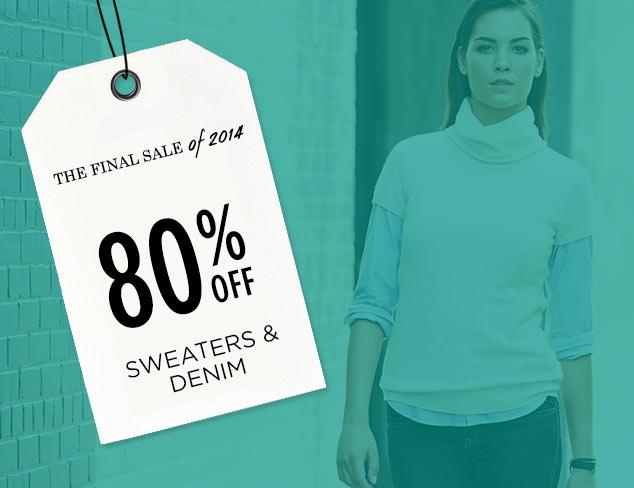 80% Off: Sweaters & Denim at MYHABIT