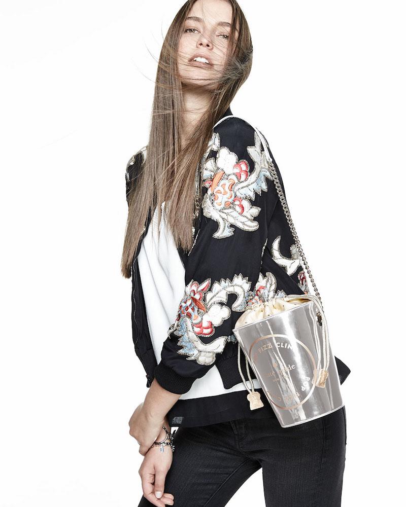 Alice + Olivia Felish Embellished Satin Jacket