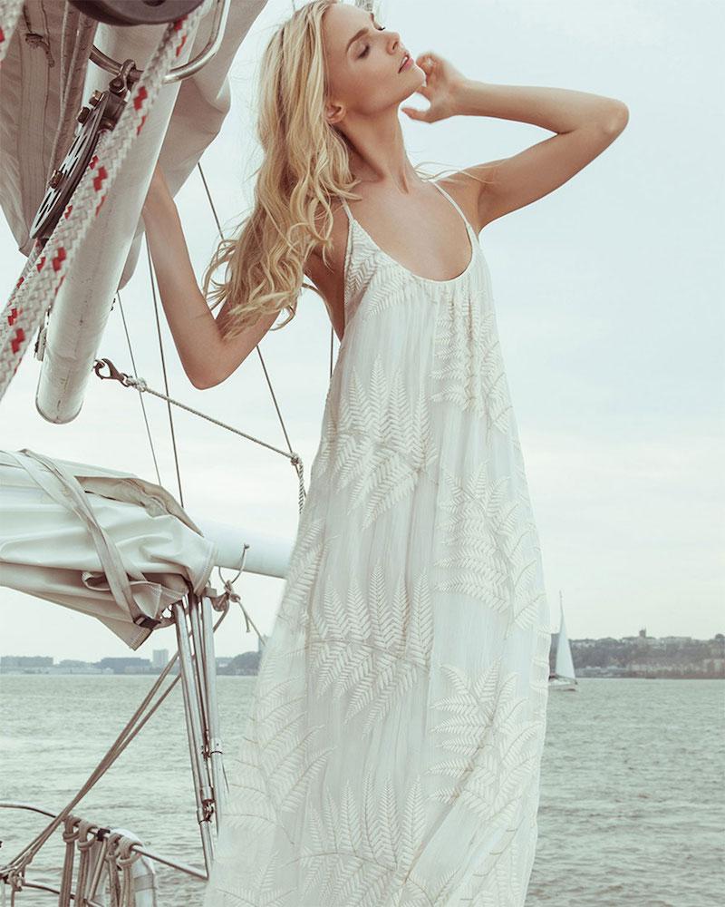 Alice + Olivia Kelly Palm-Print T-Back Dress