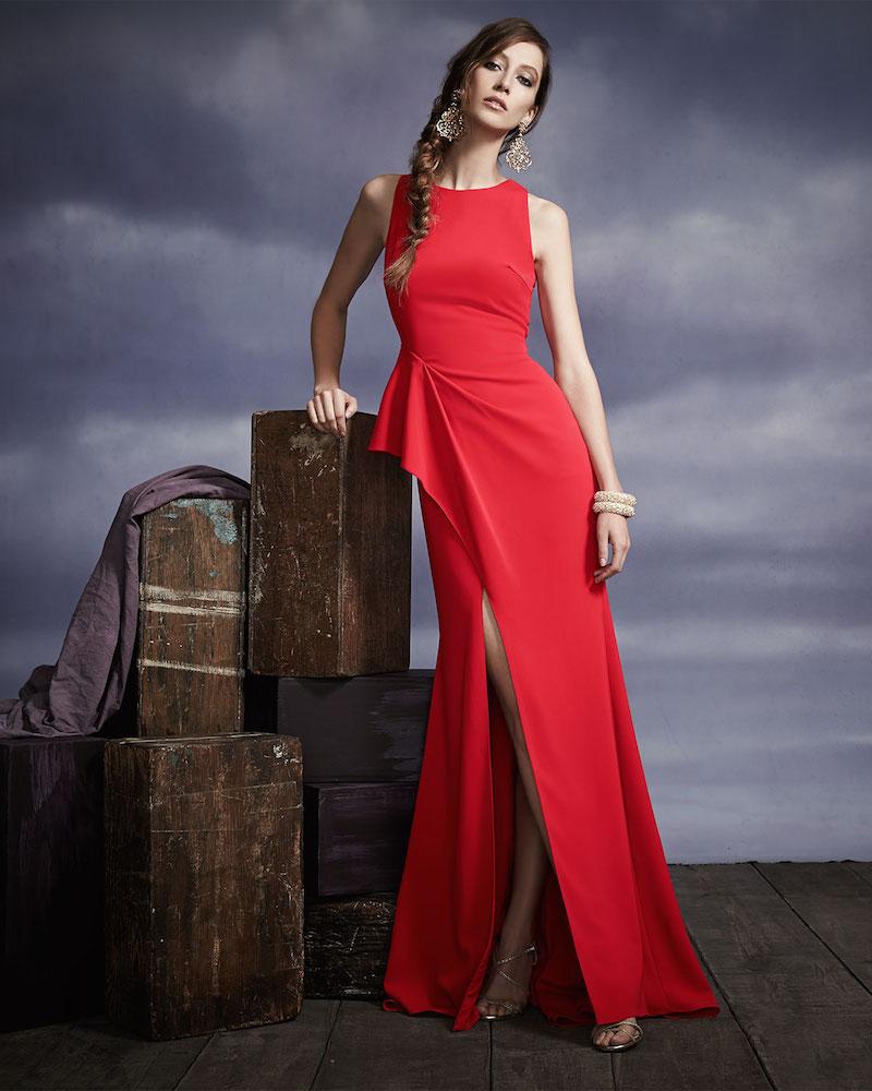 Badgley Mischka Collection Sleeveless Scissor Ruffle-Skirt Gown