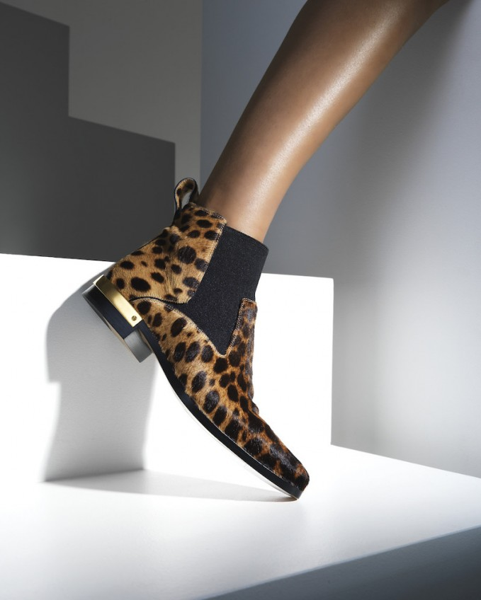 Chloé Leopard-Print Calf Hair Ankle Boots