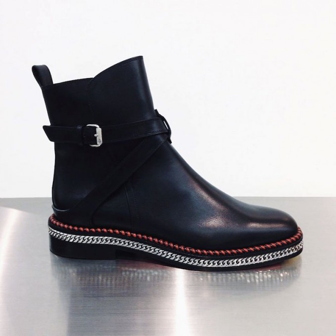 Christian Louboutin Chelsea Chain Ankle Boots