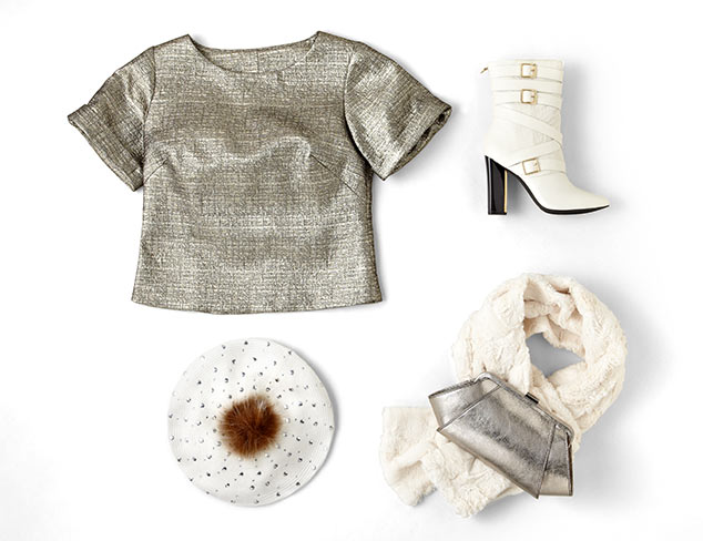 Color Theory: Icy Whites & Metallics at MYHABIT