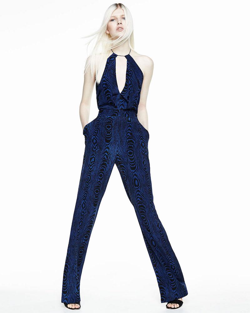 Diane von Furstenberg Ireland Silk Halter Jumpsuit