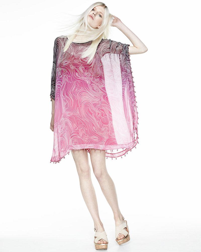 Diane von Furstenberg New Nessa Bead-Hem Dress