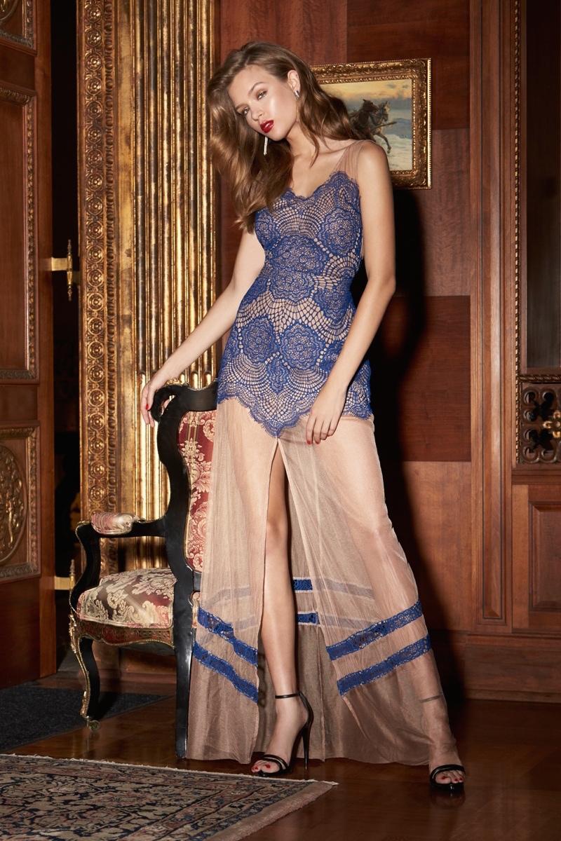 For Love & Lemons Antigua Maxi Dress