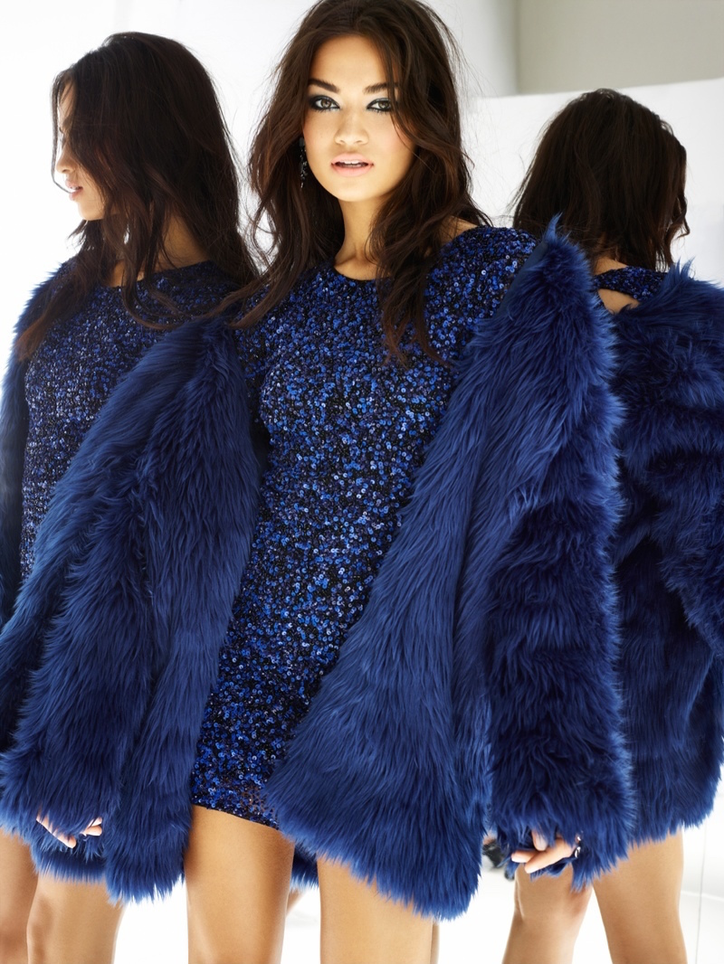 For Love & Lemons Wanderlust Faux Fur Jacket