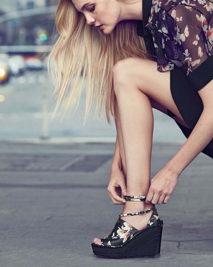 Givenchy Floral-Print Wedge Sandals