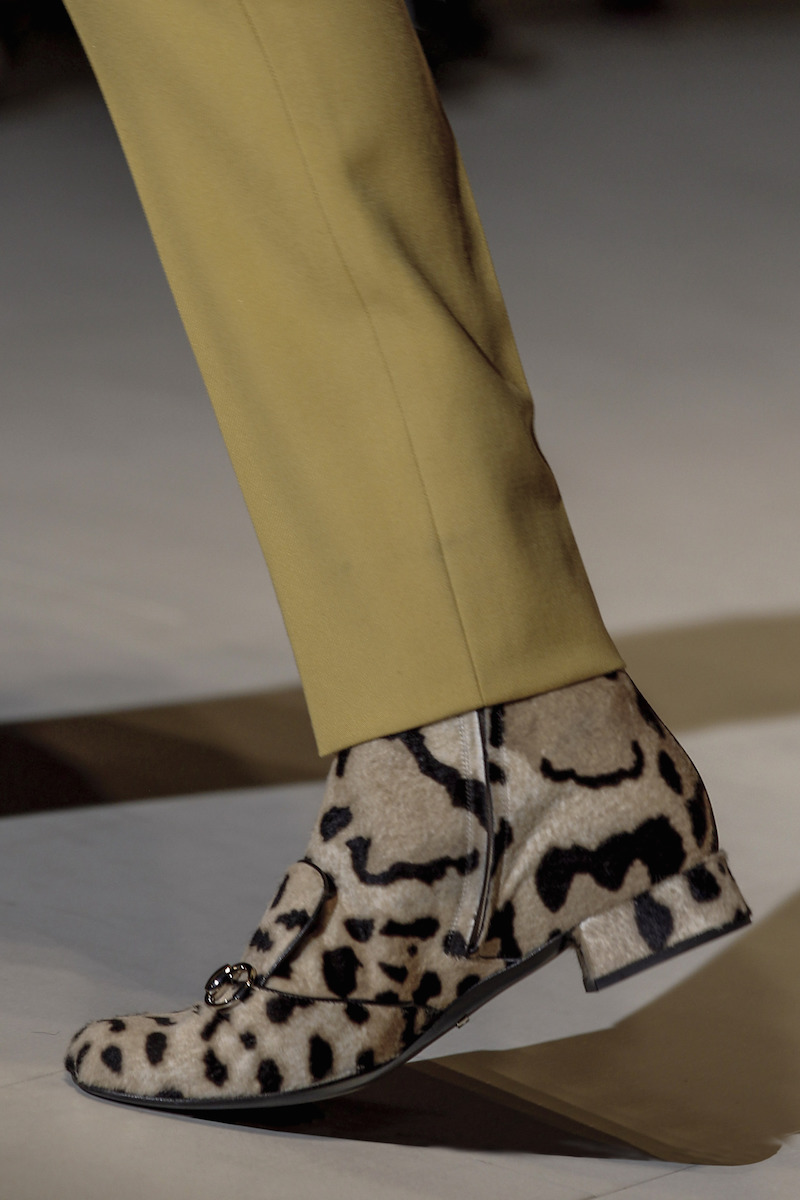 1c17deae79c2 Gucci Lillian Horsebit Leopard Calf Hair Ankle Boots – NAWO