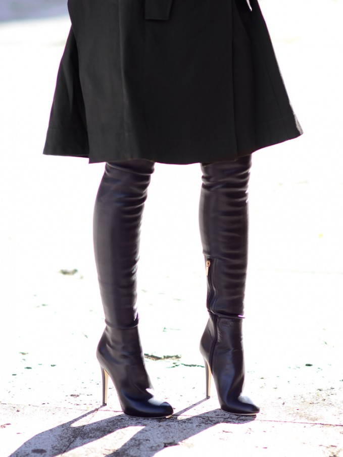 JIMMY CHOO Turner Leather Over-the-knee Boots