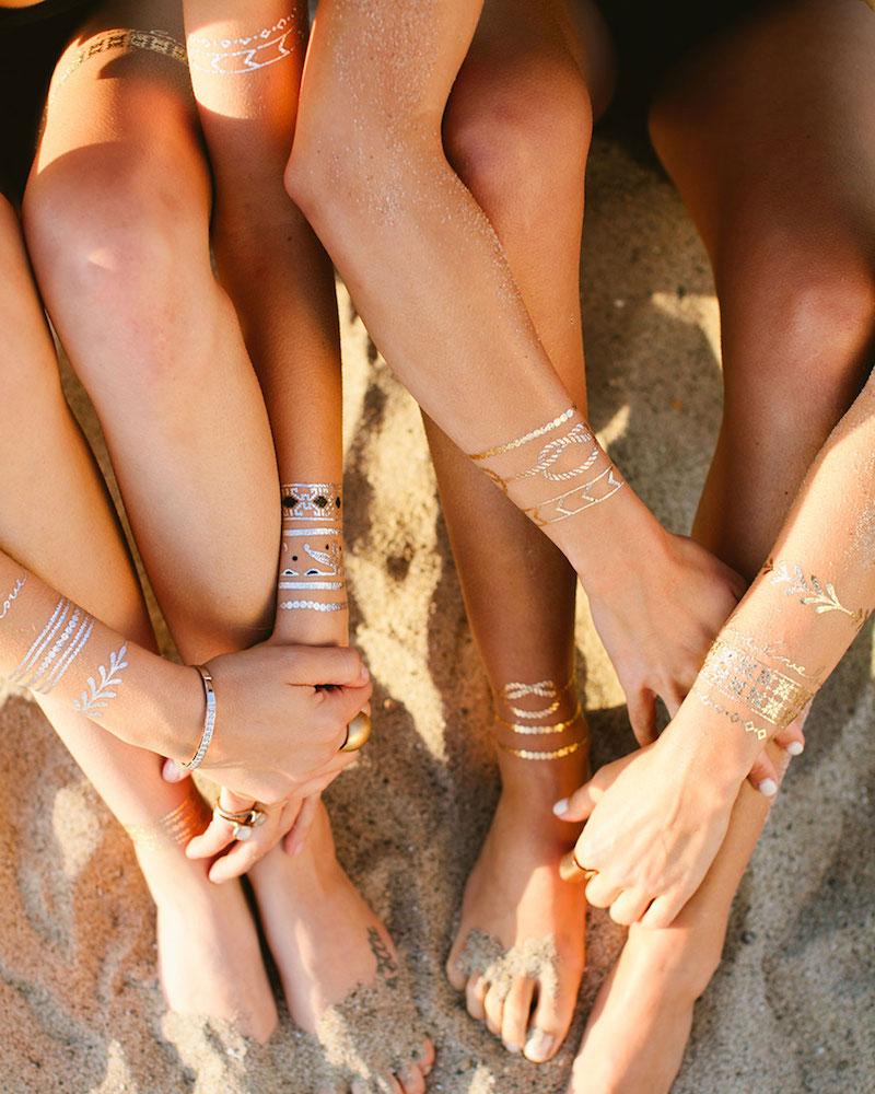 Lulu DK Love Story Jewelry Metallic Temporary Tattoos_2