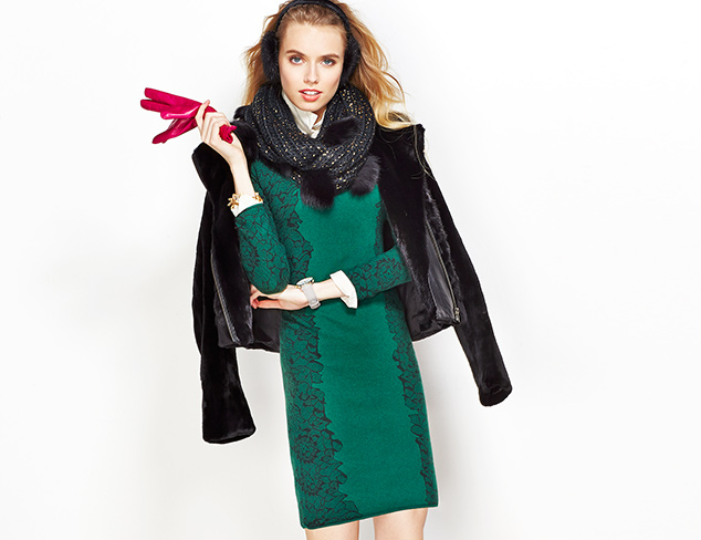 Luxe Layers: Cashmere, Fur & More at MYHABIT