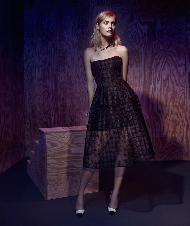 Nicholas Window Lace Strapless Ball Dress