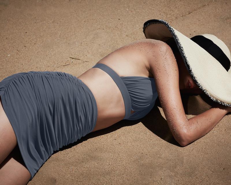 Norma Kamali Shirred Halter Swim Top