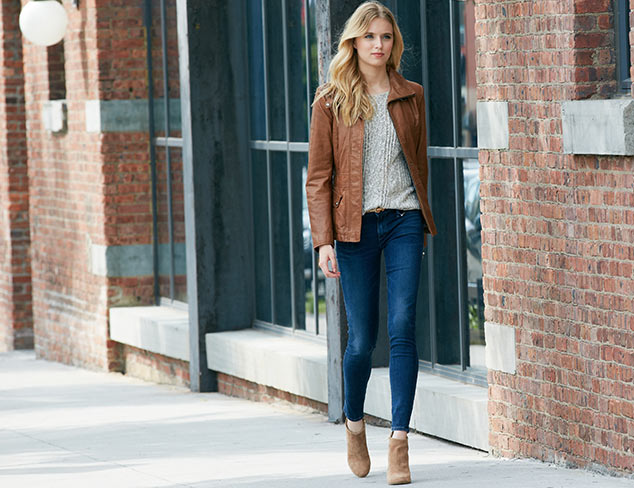 Perfect Pairing: Leather Jackets & Skinny Jeans at MYHABIT