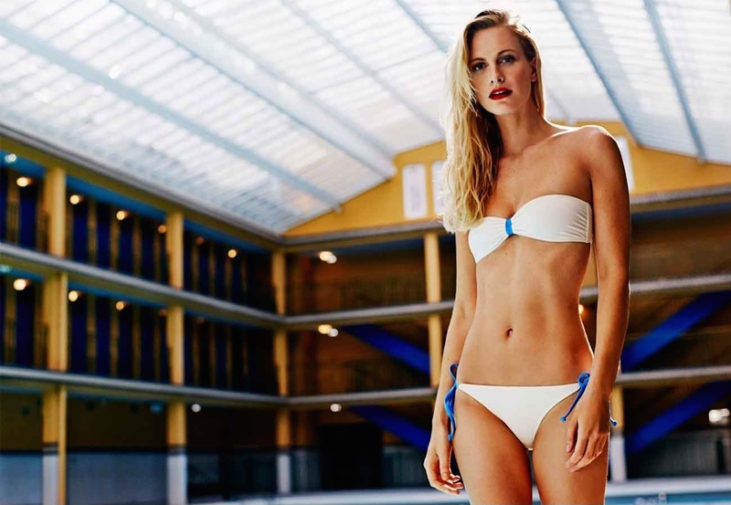 Poppy Delevingne x Solid & Striped Bandeau Bikini_1
