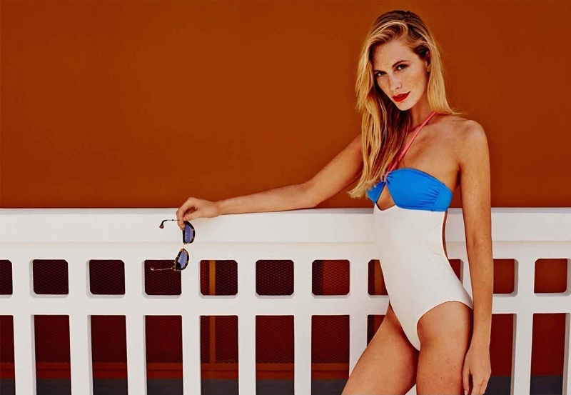 Poppy Delevingne x Solid & Striped Cutout Swimsuit_1