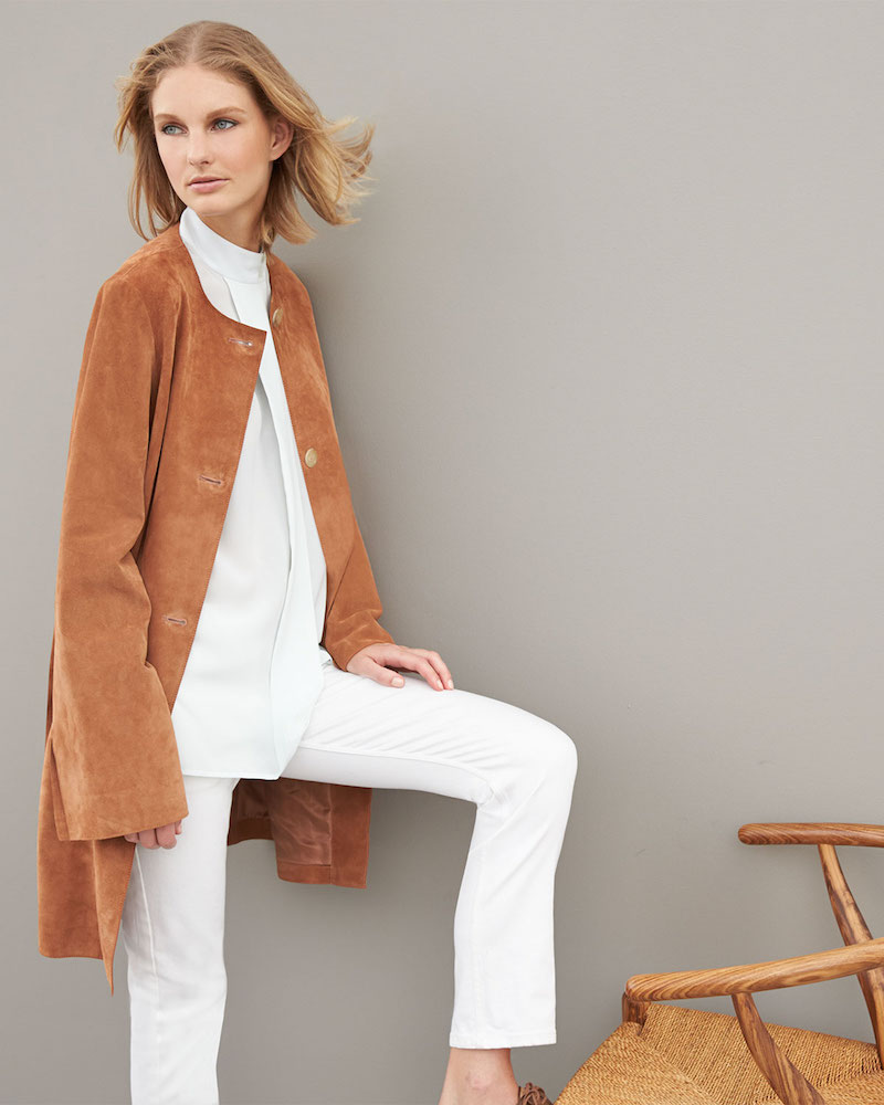 THE ROW Mid-Length Suede Jacket