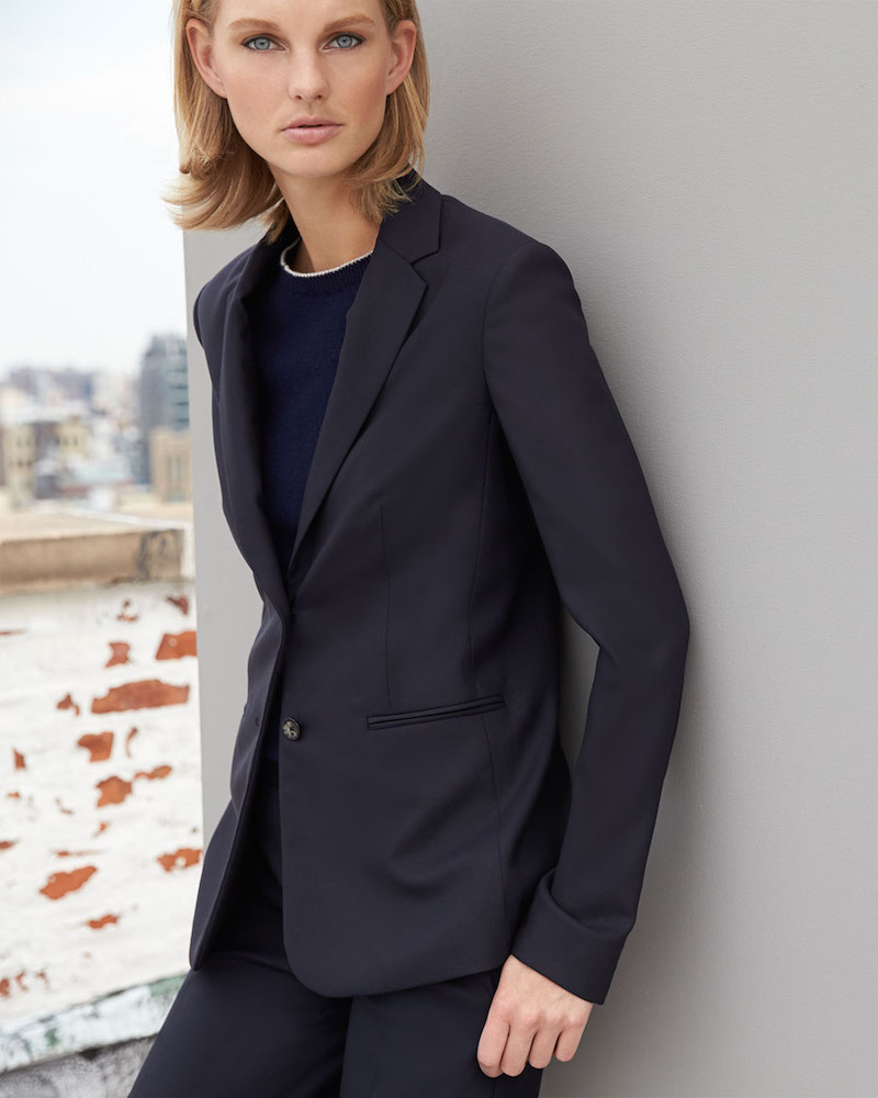 THE ROW Skinny-Lapel Two-Button Jacket