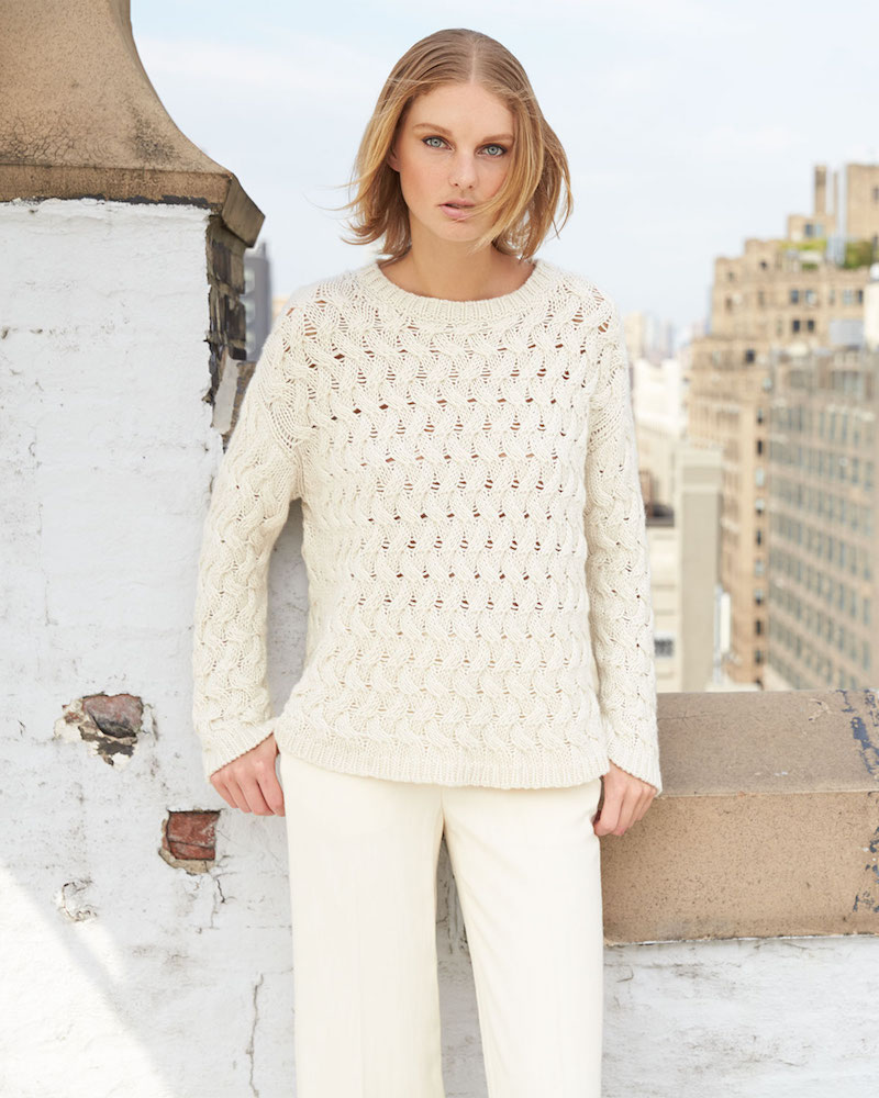 THE ROW Wavy-Cable-Knit Sweater