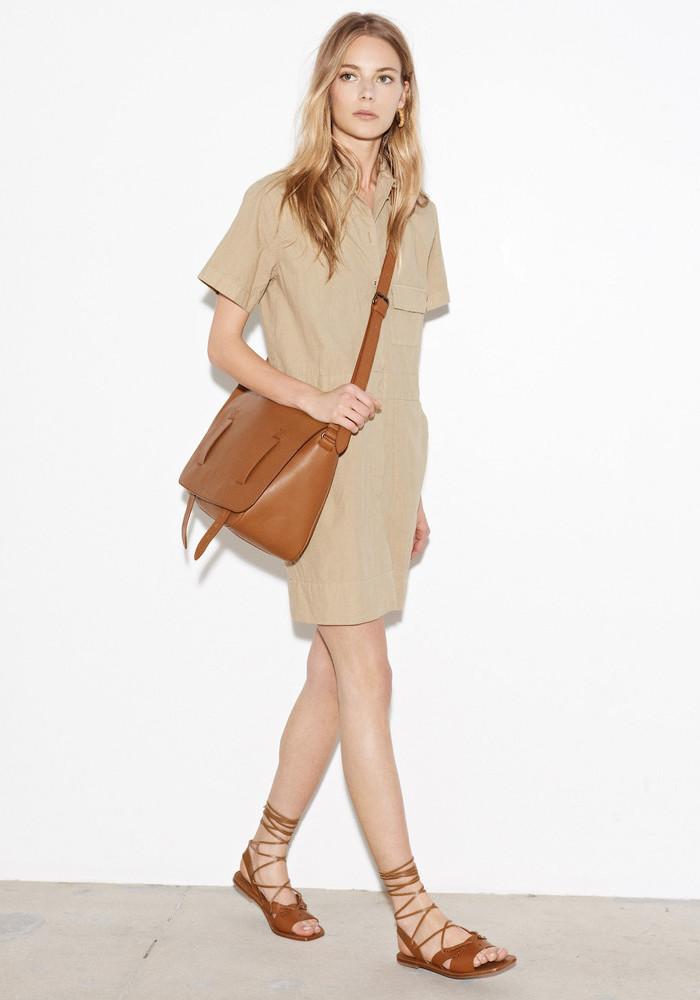 Tomas Maier Cotton-poplin Short-sleeved Dress