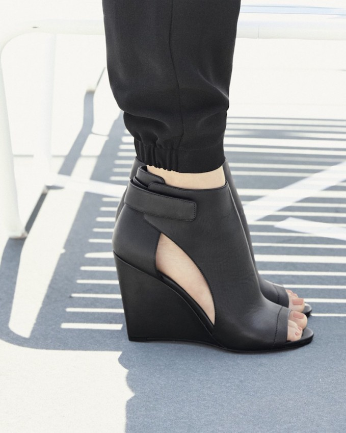 Vince Katia Leather Wedge Bootie