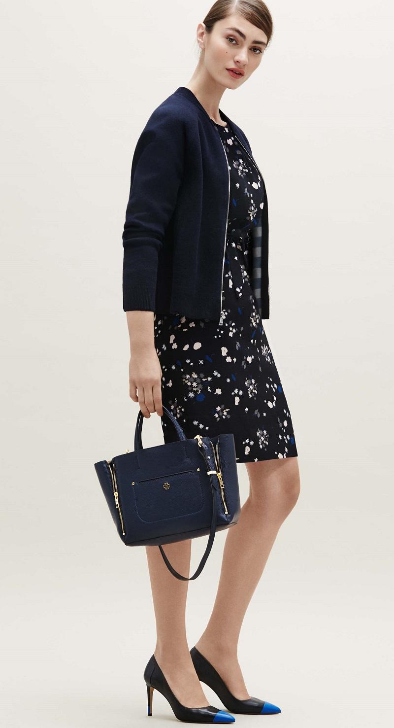 Ann Taylor Floral tie waist dress