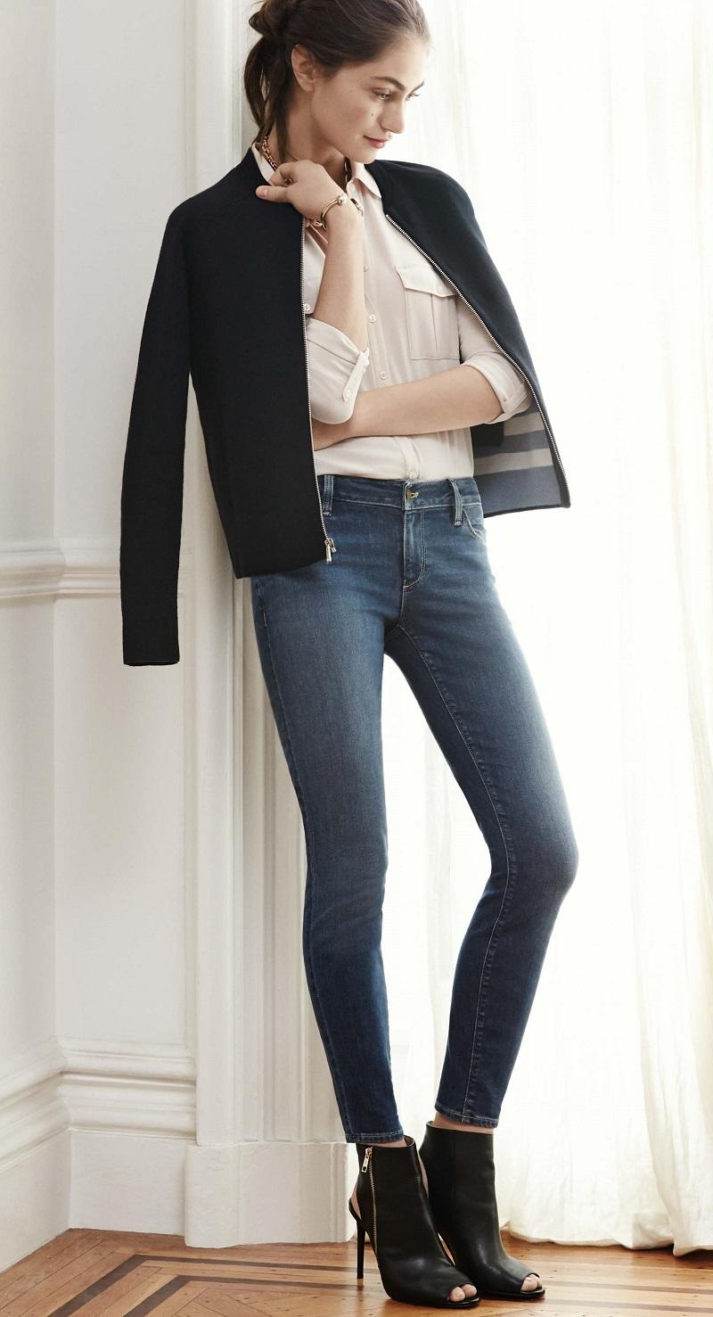 Ann Taylor Knit Bomber Jacket