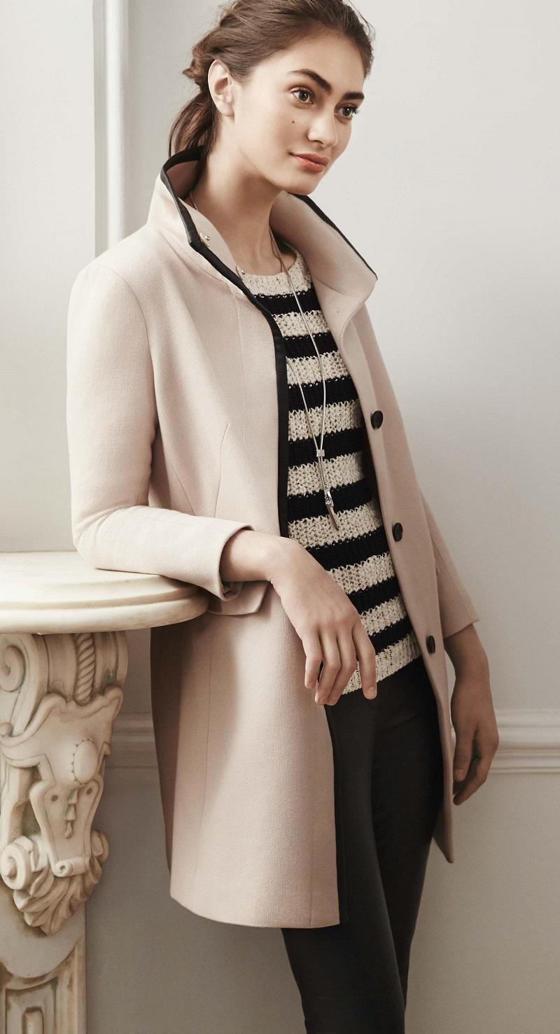 Ann Taylor Striped Zip Cuff Sweater