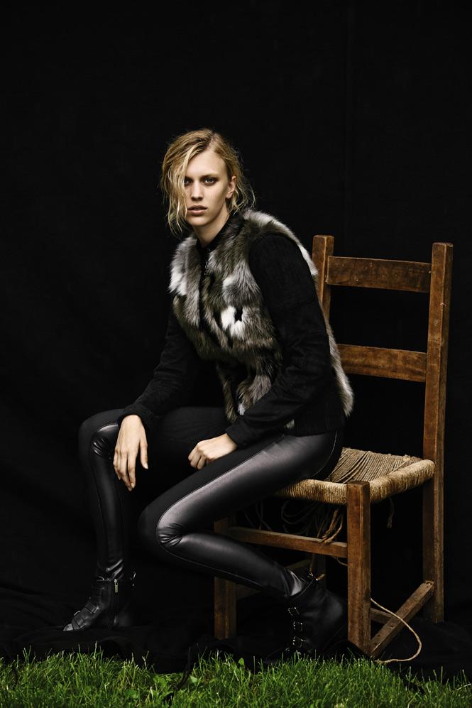 BCBGMAXAZRIA Dimitri Mixed-Media Faux-Fur Moto Jacket
