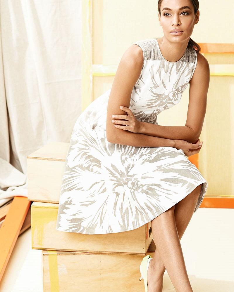 Carolina Herrera Tulip-Print Linen Sundress