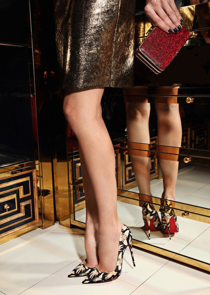 Christian Louboutin So Kate 120 Hands Printed Satin Pumps