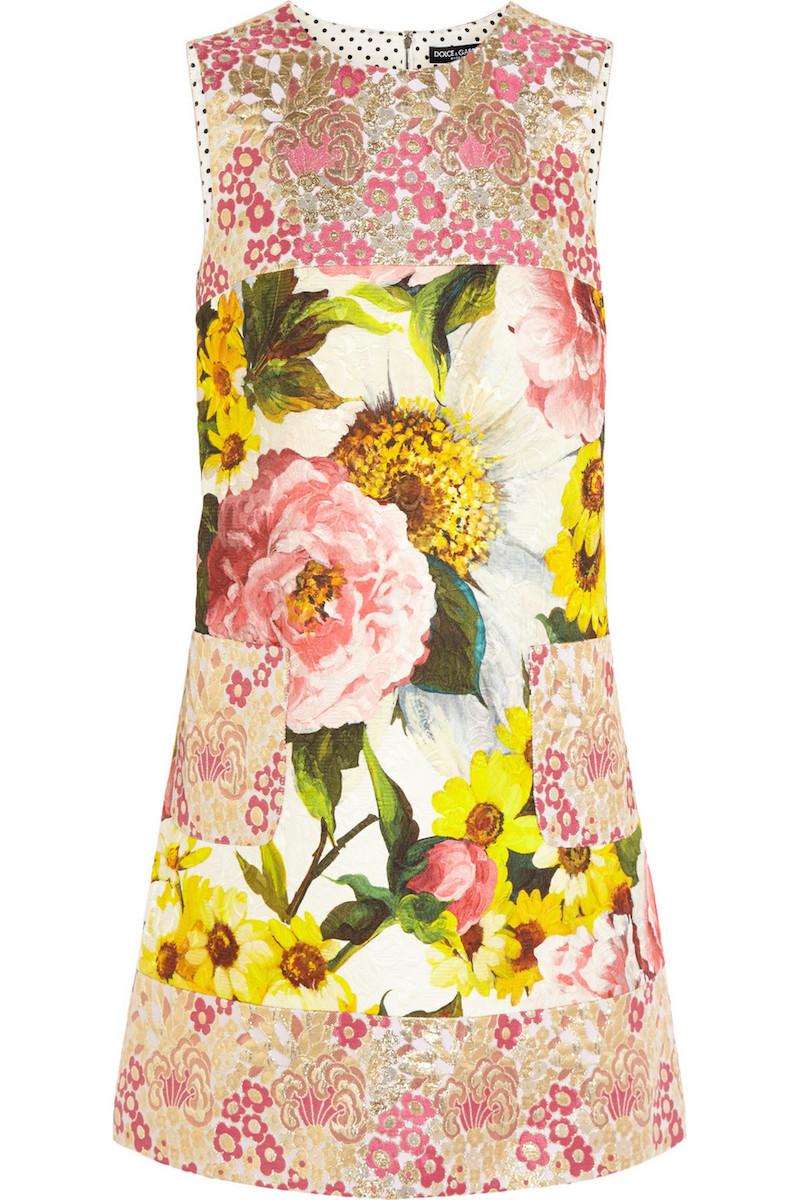 Dolce & Gabbana Floral-jacquard Mini Dress_1