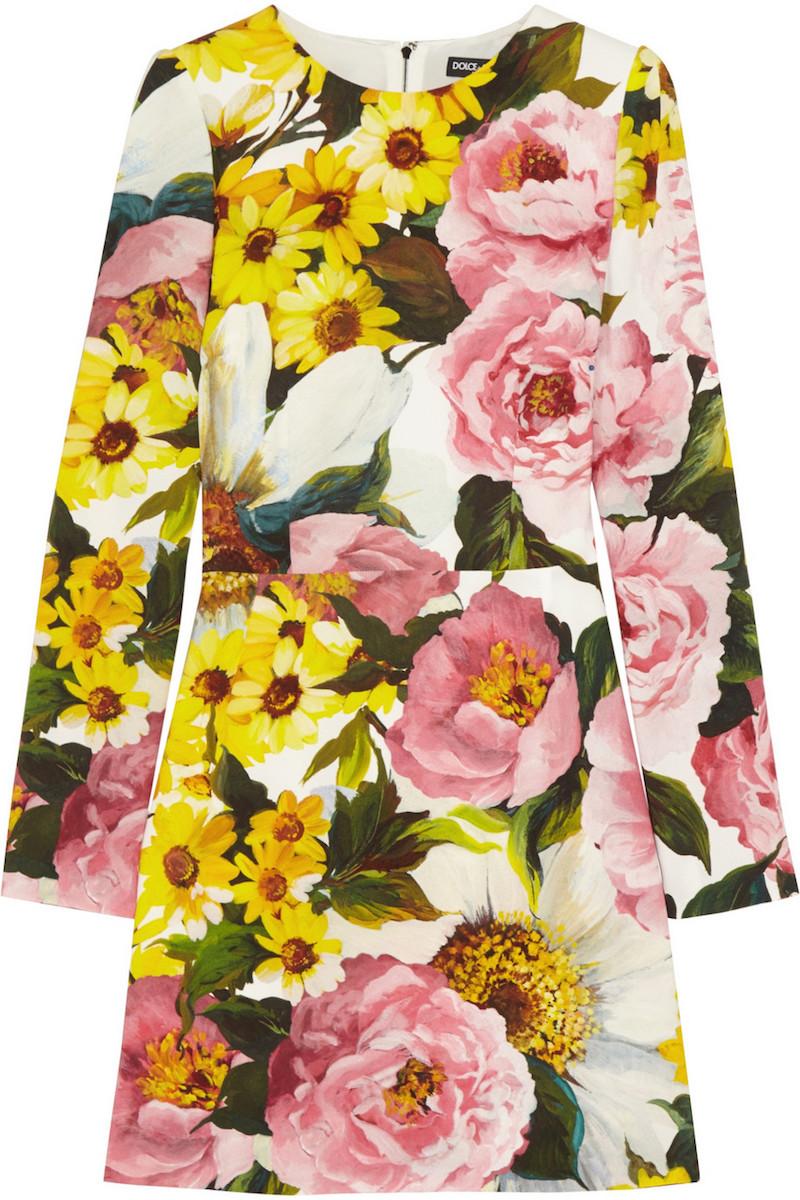 Dolce & Gabbana Floral-print Cady Mini Dress