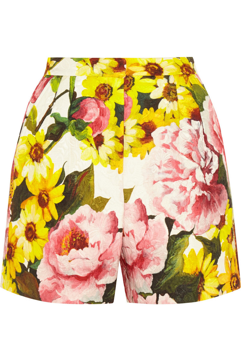 Dolce & Gabbana Floral-print Jacquard Shorts