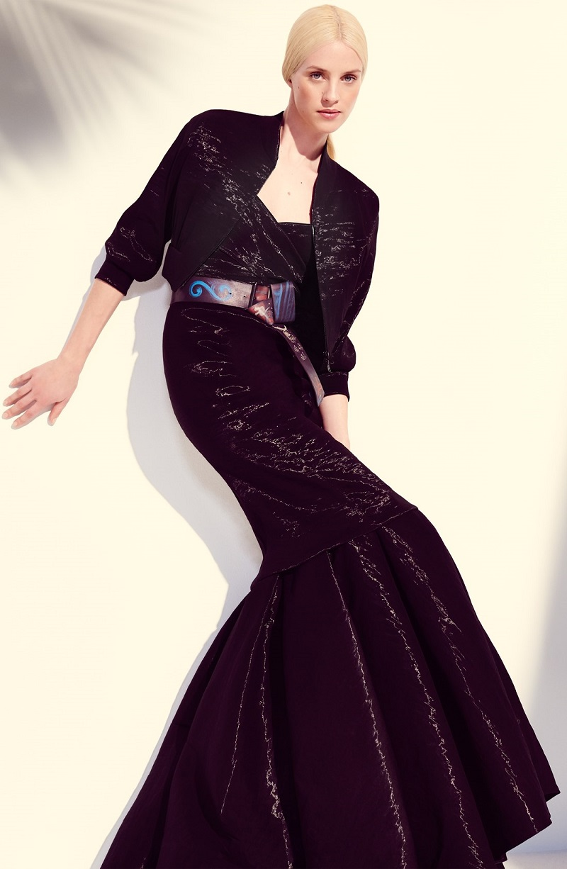 Donna Karan Collection Organza Top, Jacket & Skirt