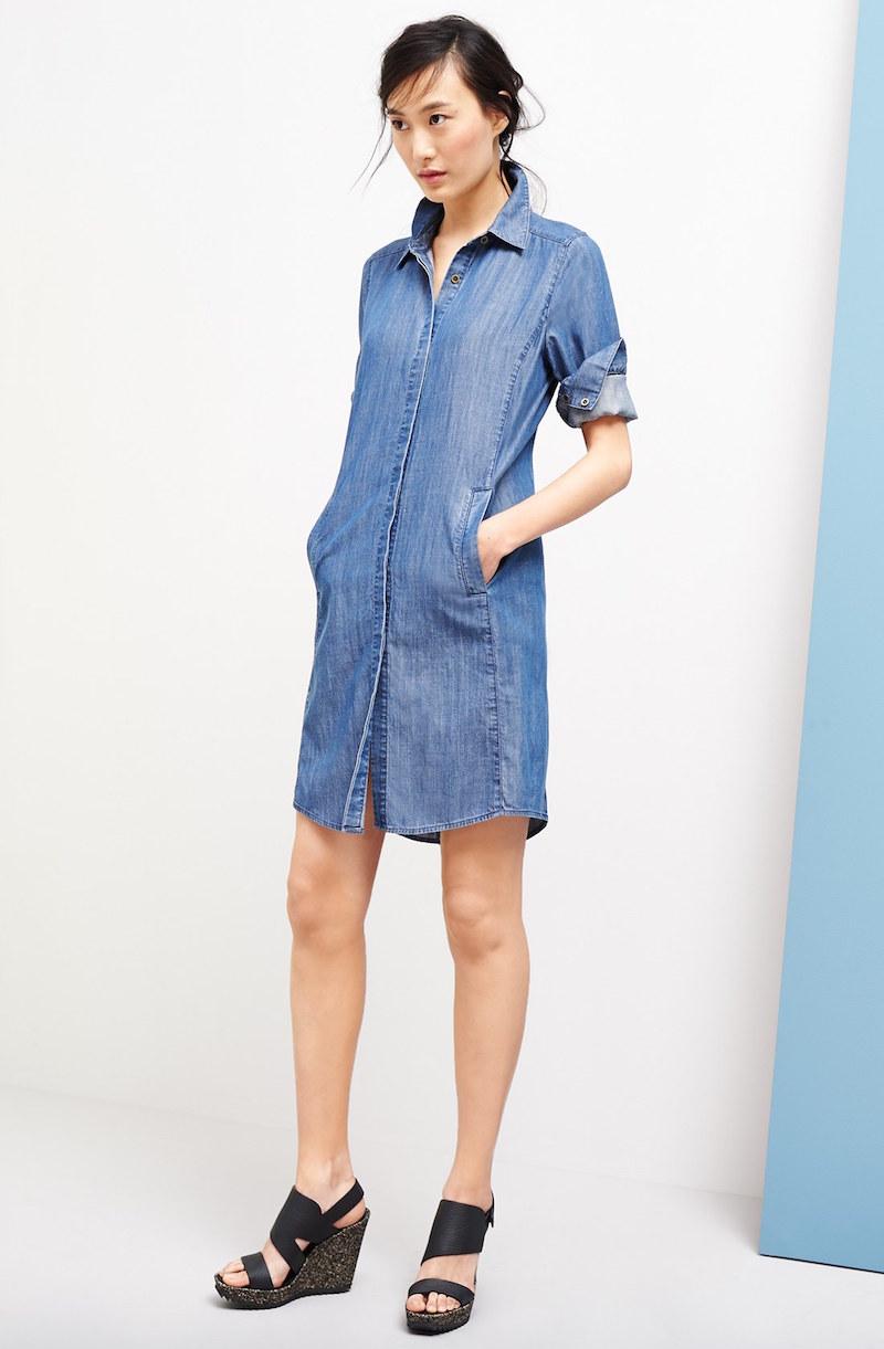 Eileen Fisher Classic Collar Shirtdress