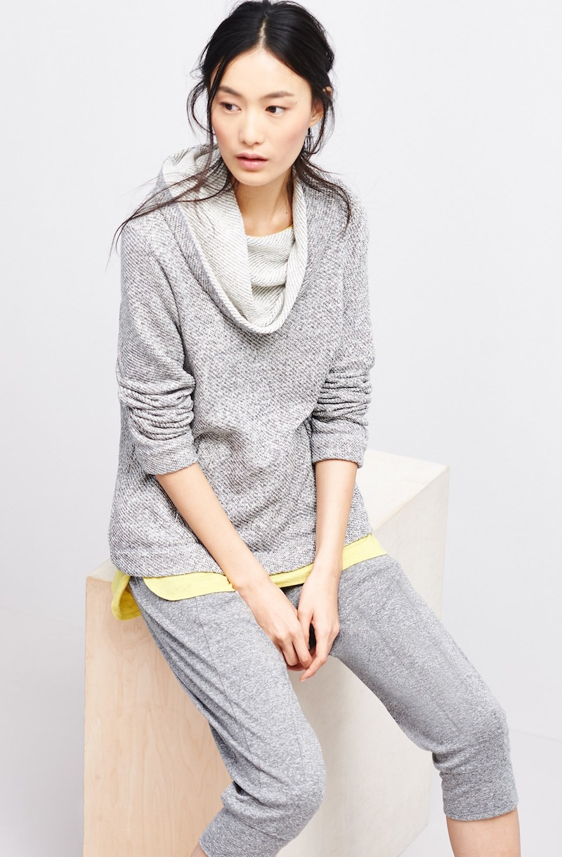 Eileen Fisher Organic Cotton Funnel Neck Top