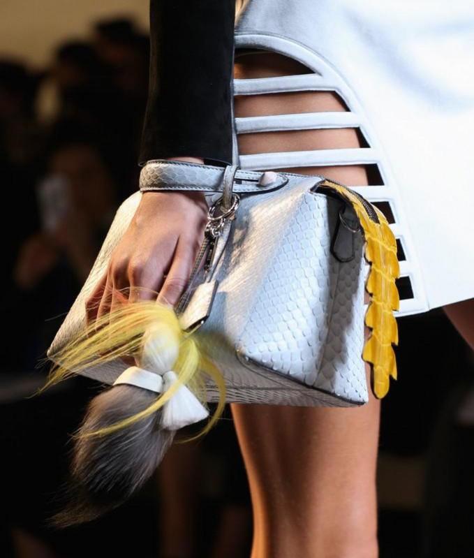 Fendi By The Way Small Python Satchel Bag